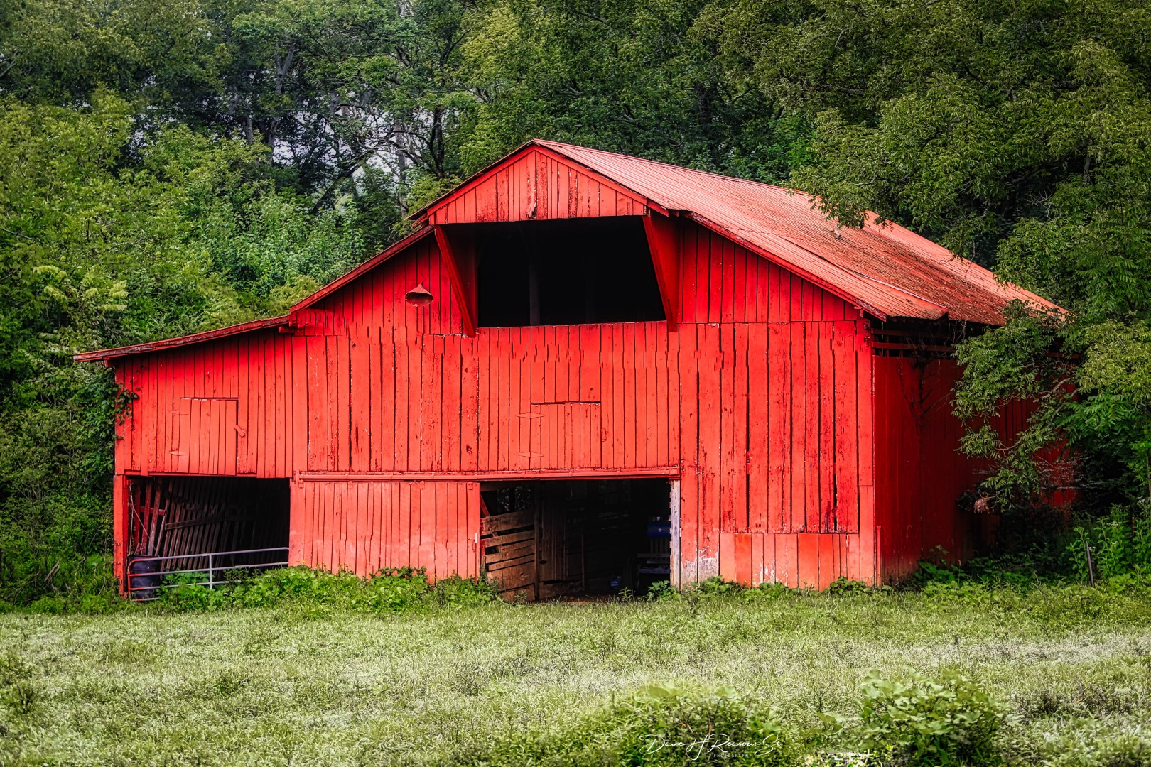 The Red Barn is hard to miss