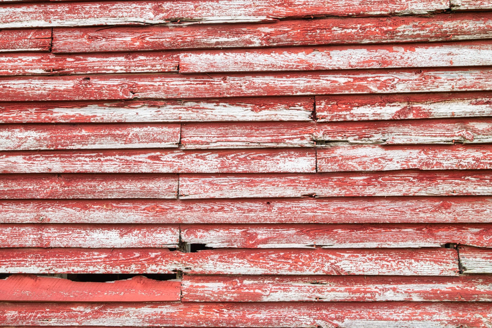 Great texture on this old red barn