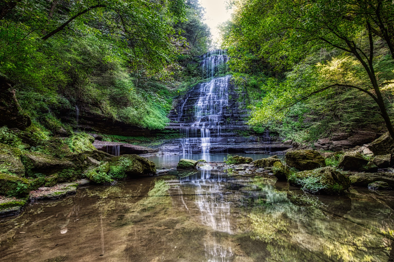 90 ft. Falls, locat3ed on private property at Evans Mill.  Day Pass with lunch is $25. per person.