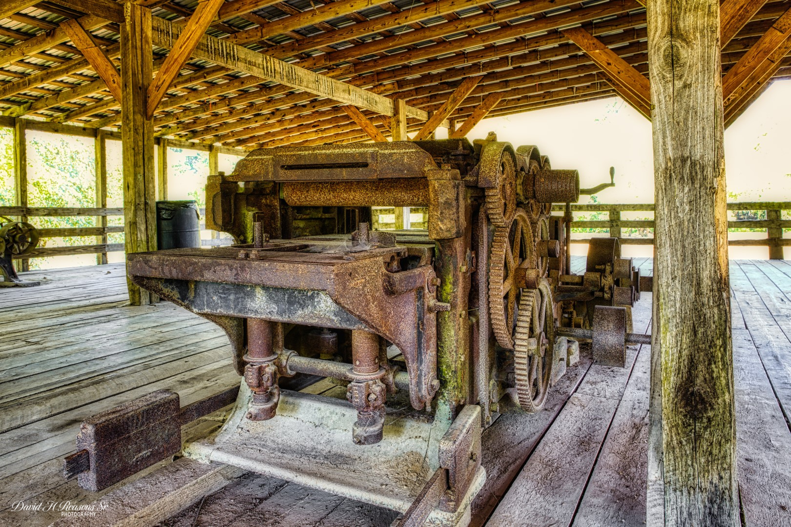 A water powered wood planning machine that was in the mill