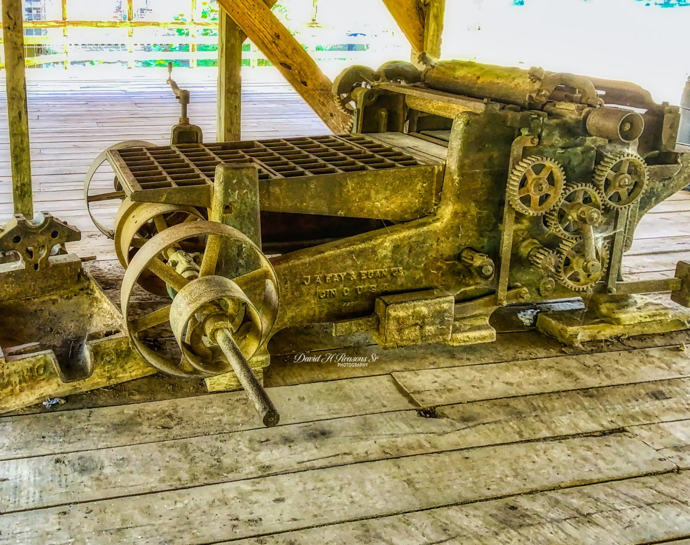 Old equipment out of the Mill.  It was water powered via a  waterwheel