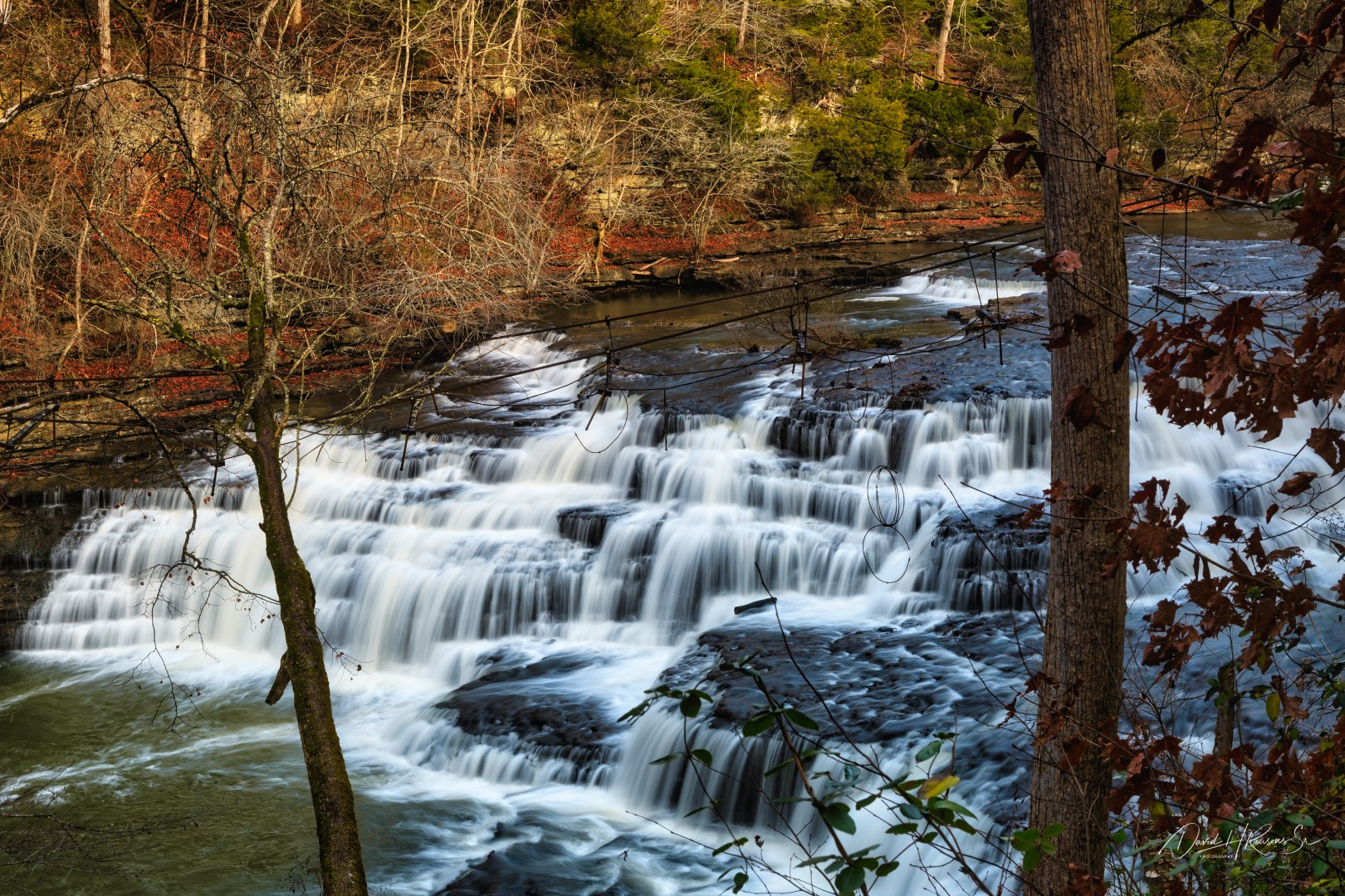 The is thje falls upstream of Burgess Falls